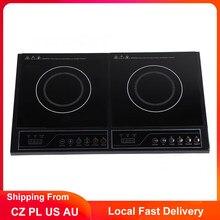 220V 3400W Induction cuisinière maison cuisine électrique Double Induction table de cuisson Touchpad Induction cuisinière