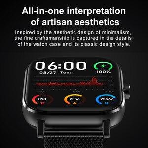 Image 5 - DT35 ساعة ذكية الرجال بلوتوث دعوة تعمل باللمس الكامل جهاز تعقب للياقة البدنية ضغط الدم ساعة ذكية IP67 النساء Smartwatch ل amazfit x