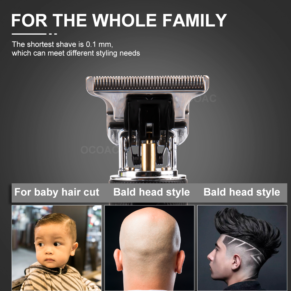 LCD Hair Clippers Professional Hair Cutting Machine Hair Beard Trimmer For Men Barber Shop Electric Shaving T-Outliner Men 3