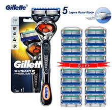 Manual Shaver Razors-Machine Cassettes Gillette Fusion Proglide 5-Layer for with Replacebale-Blades