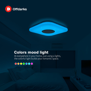 Image 3 - Modern intelligent LED ceiling light, APP control Bluetooth speaker RGB dimmable 36W/52W living room bedroom lighting 110V/220V