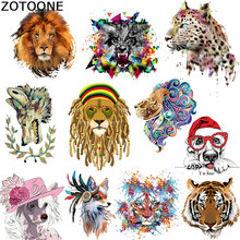 ZOTOONE Iron on Transfer Patch Tiger Lion Dog Animal for Clothes T-shirt Stickers A-level Washable Heat Press Appliqued C