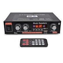 Audio Amplifier Amplificador Digital Home Power Bluetooth Hifi Stereo Subwoofer Music Player with Remote Control EU Plug