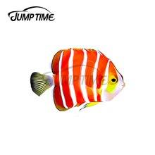 JumpTime 13x5,9 см перечной мяты Angelfish соленой воды автомобильные мультипликационные наклейки настенные наклейки аксессуары для автомобиля подхо...