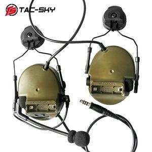 Image 2 - COMTAC  TAC SKY  comtac iii helmet fast track bracket version silicone earmuffs noise reduction pickup tactical headset  FG