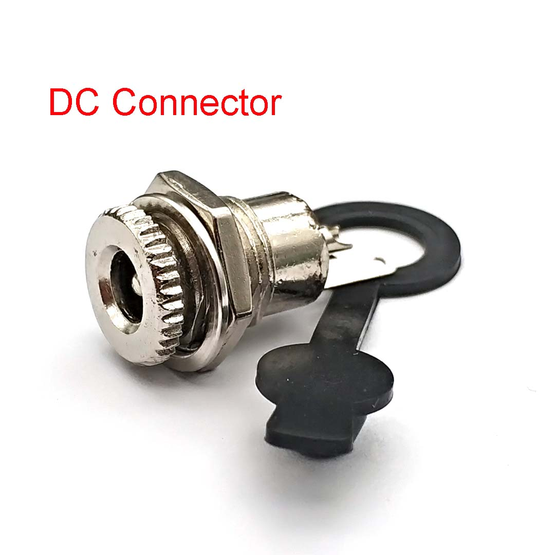 5.5mm X 2.1mm/5.5x2.5 DC Power Jack Socket Female Panel Mount Connector Metal Panel Mount Interface Plug Wire Terminals