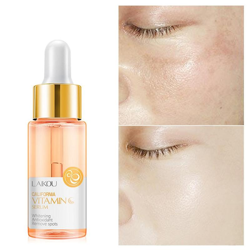 LAIKOU Vitamin C Face Serum Japan Hyaluronic Acid 24K Gold Whitening Skin Care Face Serum