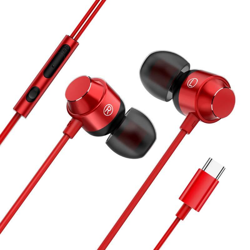 Металлические наушники Type-C для Oneplus 8, 7 Pro, 6t, наушники-вкладыши с микрофоном и проводом, магнитная гарнитура с басами, наушники для Huawei P40 Pro, USB...