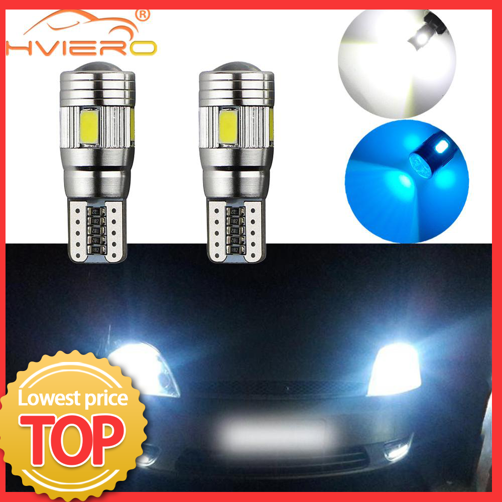2X T10 White Car Auto LED T10 Canbus 194 W5W 5SMD 5630 LED Light Bulb No Error LED Light Parking LED Car Side Light Car Styling