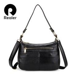 REALER женские сумки из натуральной кожи сумки женские классические змеиные принты сумки через плечо женские школьные сумки-мессенджеры