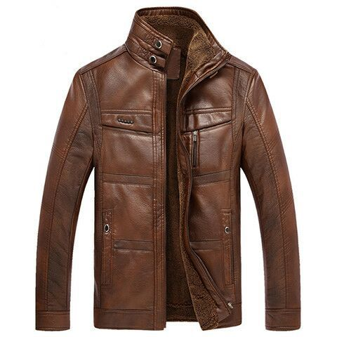 Middle-aged Leather Coat Men's Casual MEN'S Leather Coat Spring And Autumn Season Sale Leather Coat Straight Support Pin