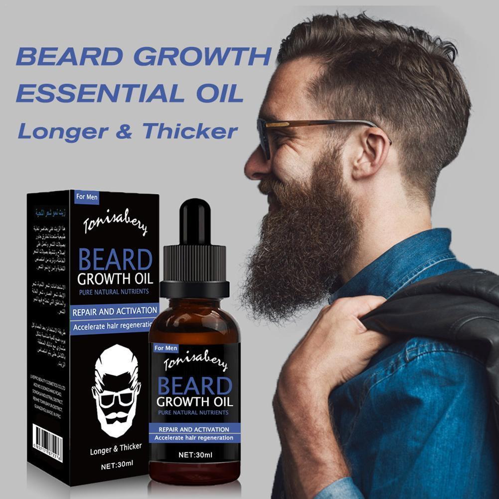beard growth oil For men, thicker and fuller beard care treatment K1K8