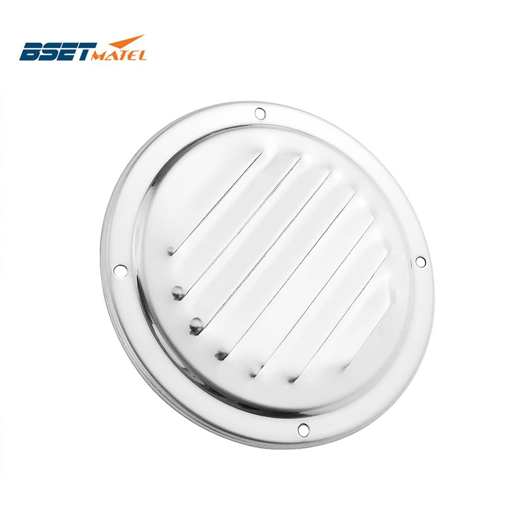 Marine Grade Stainless Steel 316 Boat Marine Round Air Vent Louver Vent Grille Ventilation Louvered Ventilator Grill Cover