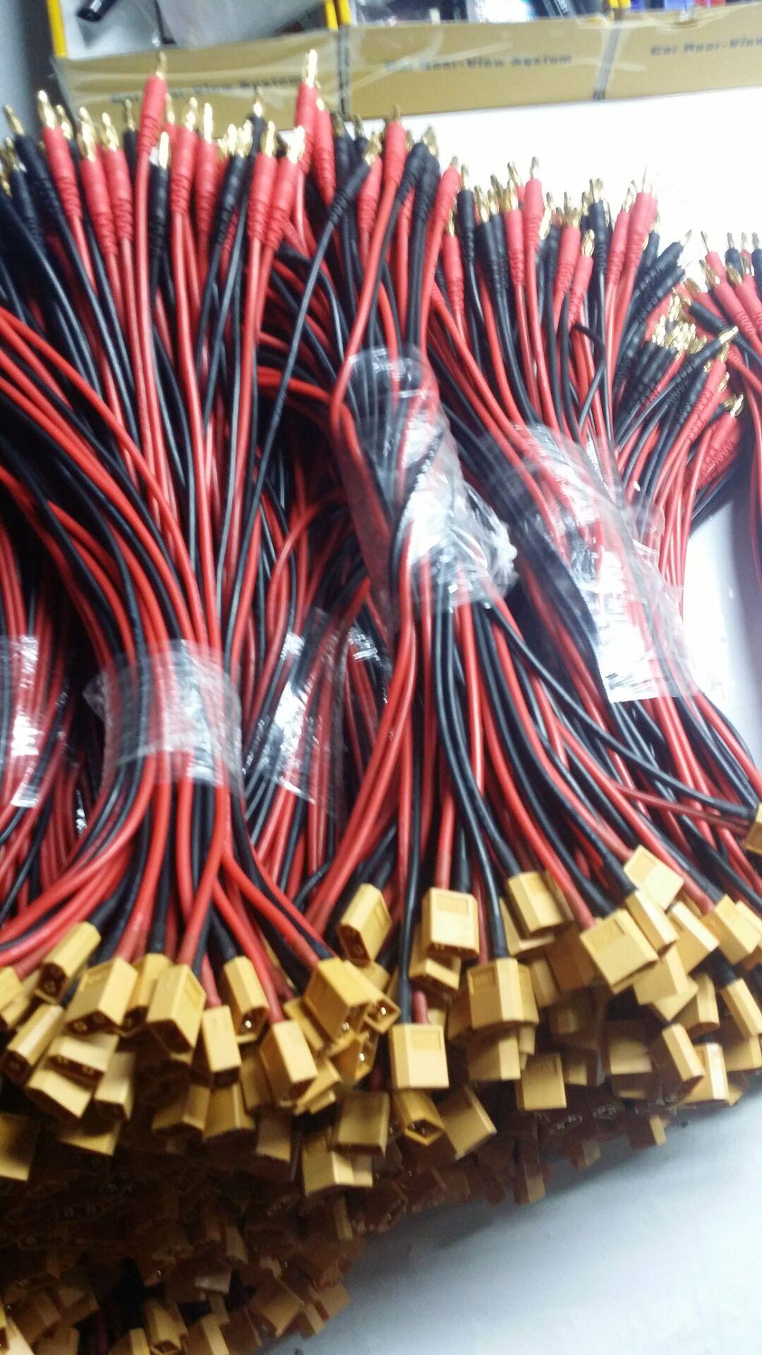 RC battery charger cable EC2 EC3 EC5 Deans Tamiya MPX XT30 XT60 XT90 XT150 Traxxas HXT Futaba to 4mm banana plug adapter cable