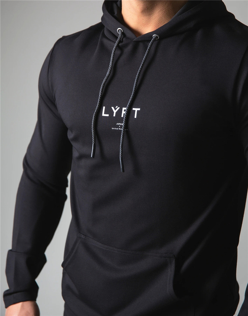 2021 New Men Cotton Hoodies Print Hoodies Sweatshirt Gym Fitness Hooded Pullover Man Casual Sportswear Brand Workout Clothing 2