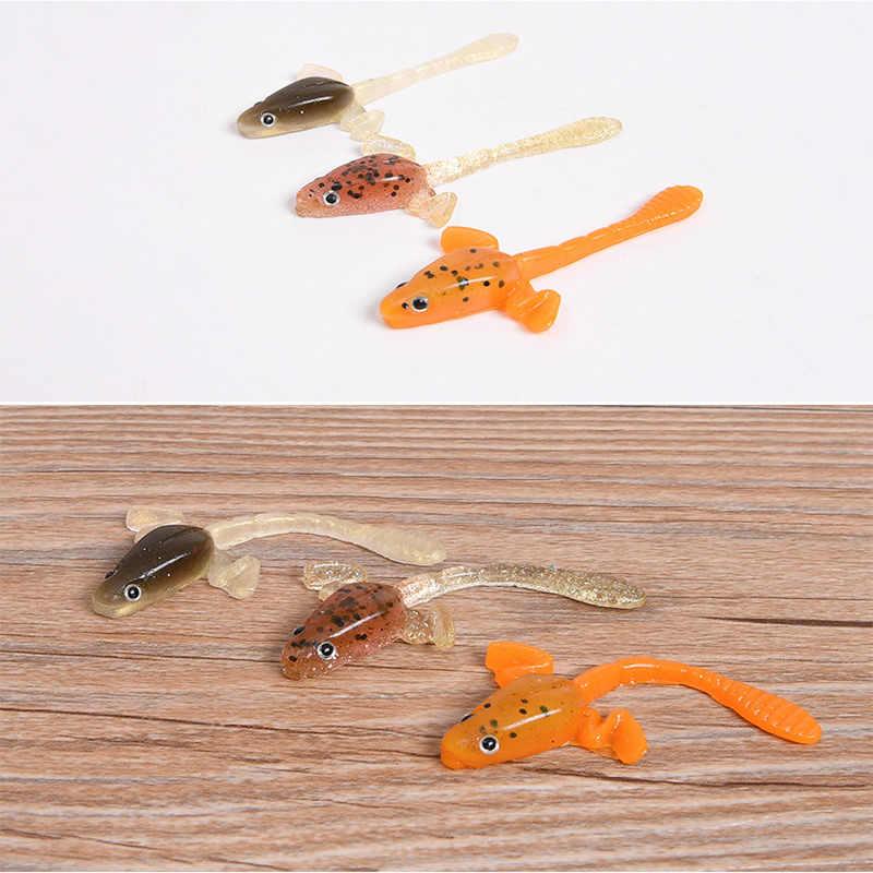 กีฬากลางแจ้งตกปลาเหยื่อ 6 ชิ้น/ล็อต tadpole-shaped Soft เหยื่อ 7cm/6G ซิลิโคนแผนที่ล่อเหยื่อส่งออกเกียร์ตกปลาพลาสติก
