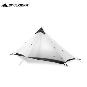 Image 5 - 3F UL GETRIEBE LanShan 1 Outdoor Ultraleicht Camping Zelt 1 Person 3 Saison Professionelle 15D Silnylon LanShan1 Kolbenstangenlosen Zelt