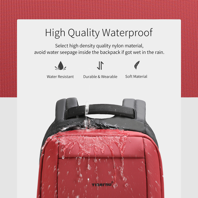 Tigernu Waterproof Anti Theft Female Mochila 15.6inch Laptop Backpack USB Backpacks Fashion Travel School Bag Backpack For Women 4