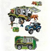 цена на Qman 1923 Educational Armed Giant Bear Escape Car Building Blocks Construction Mini Bricks Figures Kids Gift Toys for Kids