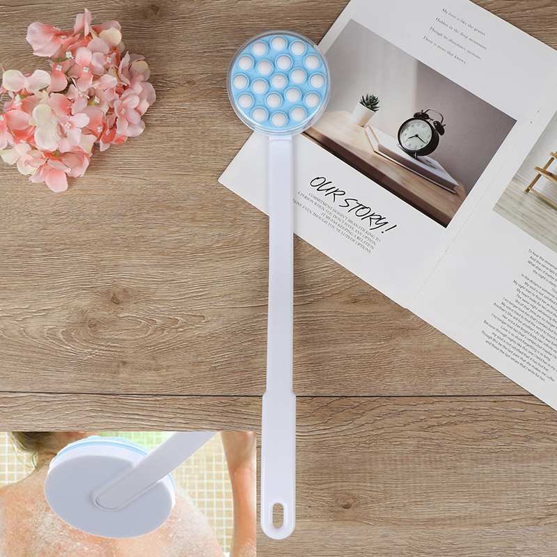 Bath Brush Long Handled Lotion Oil Cream Applicator Body Leg Back Massager Bath Brush Plastics Long Handle Bath Brush Hot Sale