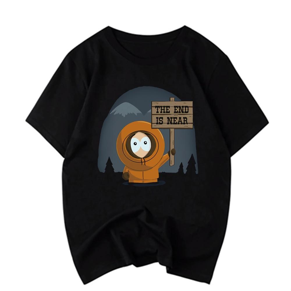 Men'S South Park The End Is Near Black T Shirt Cotton Cool Casual T Shirt Men Unisex Fashion Tshirt