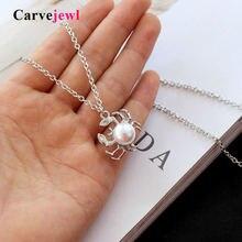 Carvejewl 2019 короткое ожерелье с крабом подвеска на цепочке