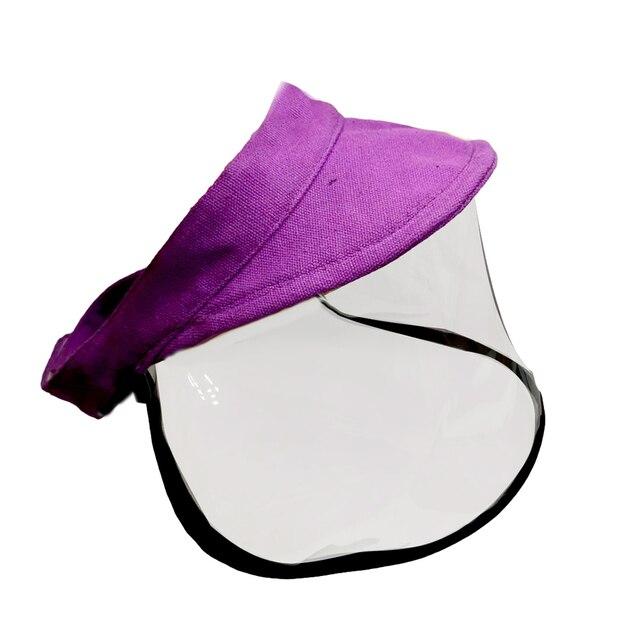 Kid Adjustable Anti Saliva Droplet Safety Health Protection Sun Protection Face Shield Visor Cap Sunhat Sunscreen Fisherman Cap 2