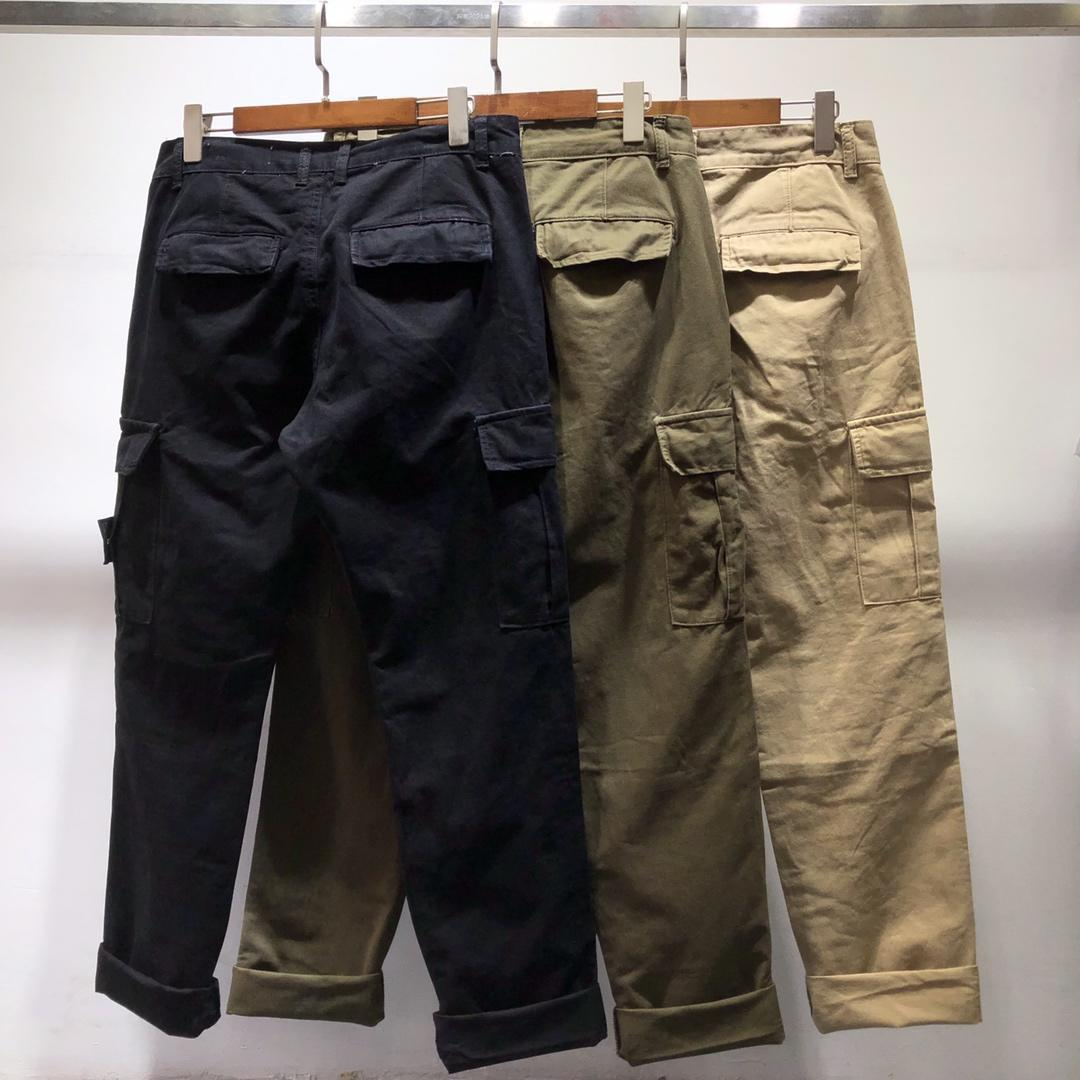 Pants Trousers Overall Stone Island 19ss Straight-Cut Popular Brand Casual Bib Classic-Style