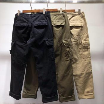 Popular Brand Stone Island 19ss Base-Multi-pockets Bib Overall Casual Pants Classic Style Straight-Cut Casual Trousers