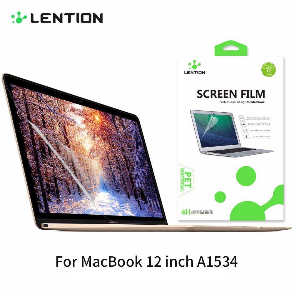 Lention Anti-glare Protective Film For Laptop Mac Macbook 12 A1534 Anti-scratch Clear Monitor Notebook Screen Protector