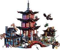 737 sztuk Ninja Temple DIY klocki do budowy zestawy edukacyjne zabawki dla dzieci kompatybilne z lepining ninjagoes