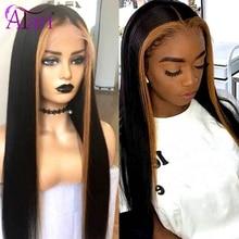 1B 27 Ombre mettre en évidence perruque 13X6 droite dentelle avant perruques perruques transparentes pour les femmes noires brésilienne cheveux humains dentelle frontale perruques