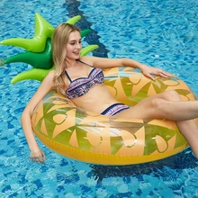 Pineapple Inflatable Lounge Chair Swimming Ring Giant Inflatable Mattress Circle Lifebuoy Party Kids Adult Pool Float Games Toys стоимость