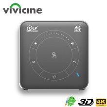 Vivicine P11 Newest Smart Pocket Mobile 3D Mini Projector,Support Miracast Airplay Wifi Home Video Proyector Beamer