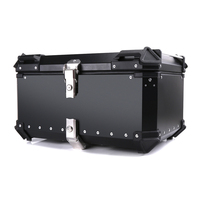 45L 55L Universal Motorcycle Rear Toolbox Trunk Storage Tool Box waterproof Luggage Helmet Lock Case Aluminum Accessories