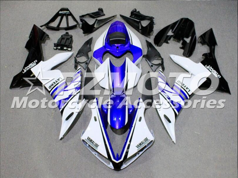 New ABS Molding Motorcycle Fairings Kits Fit For Yamaha YZF-1000-R1 2004 2005 2006 04 05 06 Fairing Bodywork Set Blue White