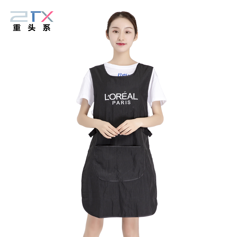 Double-sided Cooking Kitchen Waitress Apron For Woman Kitchen Home Apron Adult Work Coffee Restaurant Apron With Pocket