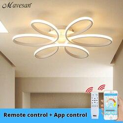 Luces de techo led modernas de control remoto para sala de estar, dormitorio 78W 72W 90W 120 W, lámpara tipo plafón de aluminio para interior