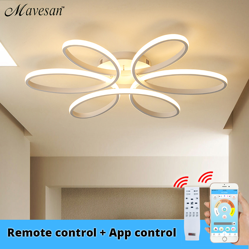 Moderne LED Decke Lichter fernbedienung für wohnzimmer Schlafzimmer 78W 72W 90W 120W Aluminium boby indoor plafond Lampe flush mount
