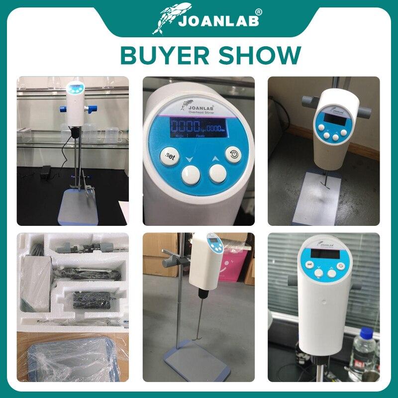 JOANLAB Official Store Laboratory Stirrer Electric Stirrer Digital Display Overhead Stirrer Lab Mixer Lab Equipment 110V To 220V 6