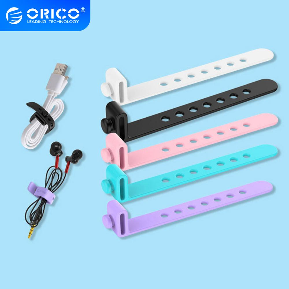 ORICO <font><b>Silicone</b></font> Cable Organizer Wire Winder Cable <font><b>Holder</b></font> for Mouse Cord <font><b>Earphone</b></font> HDMI Aux USB Cable Management image