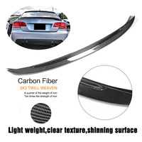 Vehemo Carbon Fiber 2 Drs Coupe Rear Wing Auto Rear Wing Hydrographics Luxury Vehicle Trunk Car Rear Wing Roof Trim Accessories