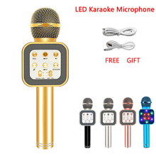 WS1818 Fashion KTV Handheld Wireless Microphone Speaker Reverberation Voice Condenser Karaoke Recording Live Surround Sound