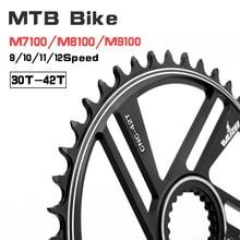 Wuzei 12 velocidade 32 t 34 t 36 t 38 t 40 t 42 t adequado para shimano m9100 m8100 m7100 9-10-11-12s roda dentada bicicleta mountain bike manivela