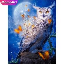 MomoArt Owl Diamond Painting Animal Mosaic Cartoon Diy Embroidery Full Drill Square Rhinestone Home Decor