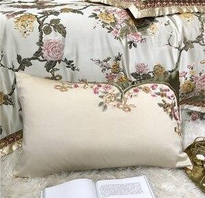 Image 5 - 4/6/10 sztuk King rozmiar Queen luksusowe ślubne królewskie komplety pościeli satynowa bawełna jedwabista miękka pościel narzuta zestaw poszewek