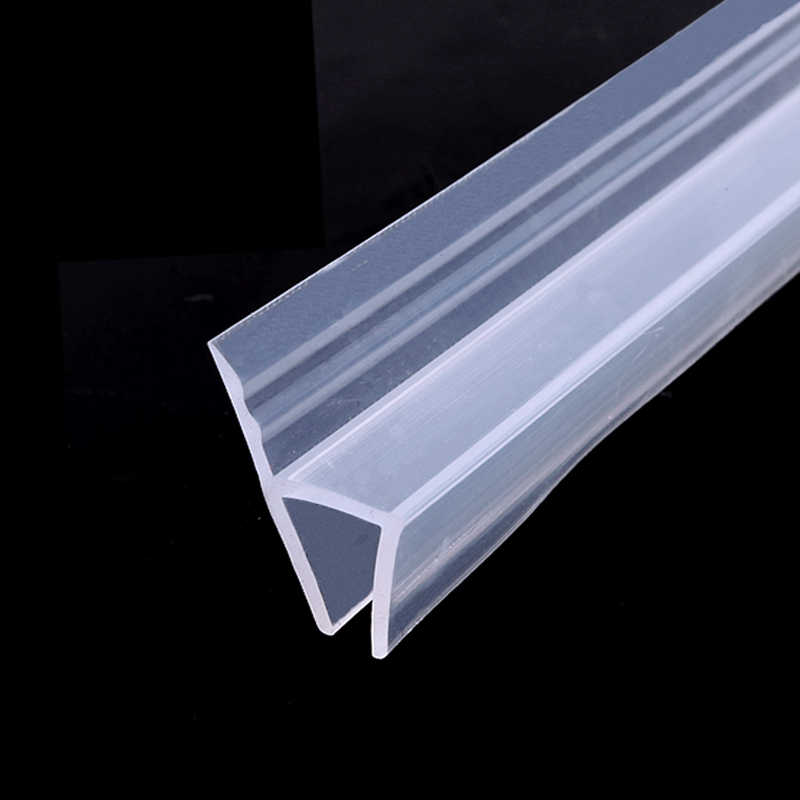 Color : F12mm x 2Meters Powefer 2 Meter//lot Widened F//h Shape Silicone Rubber Shower Room Door Window Glass Seal Strip weatherstrip for 6//8//10//12 mm Glass