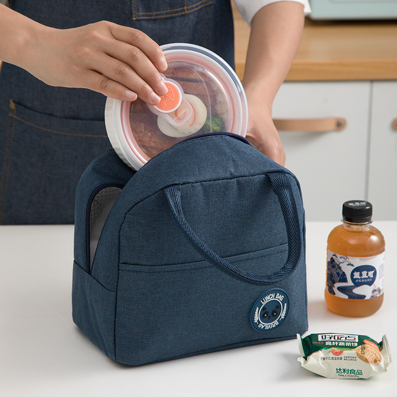1PCs Fresh Cooler Bags Waterproof Nylon Portable Zipper Thermal Oxford Lunch Bags For Women Convenient Lunch Box Tote Food Bags 4