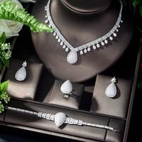 HIBRIDE Fashion African Jewelry Set for Women Zirconia Dubai Wedding Jewellery Sets Bridal Costume Jewelry parure bijoux N 1123