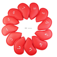 NRC Golf Irons Headcovers12pcs Thick Synthetic Leather Golf Iron Head Covers Set Headcover Fit All Brands Titleist, Callaway etc callaway golf